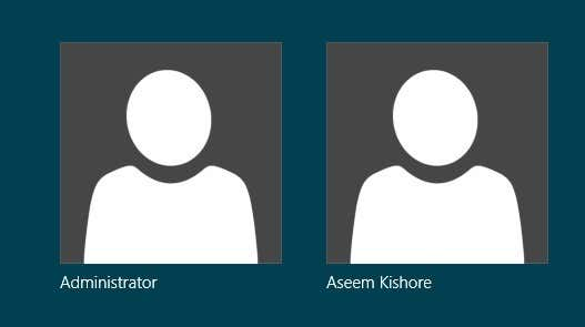 Log on as Administrator in Windows 10