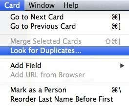 look for duplicates