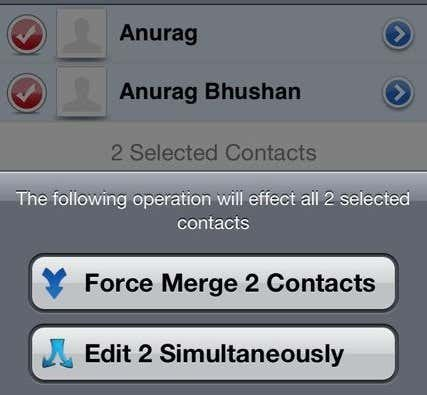 merge a contact