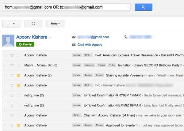 Sort Gmail by Sender