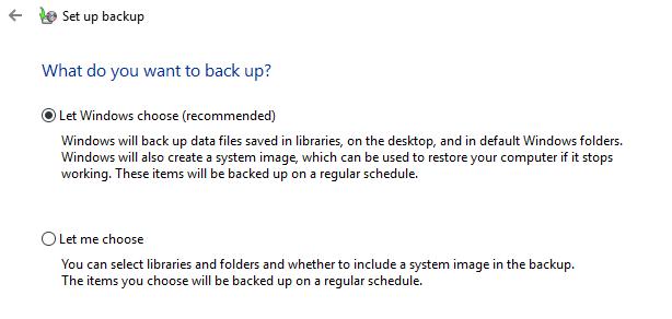 Create a Windows 10 System Image Backup