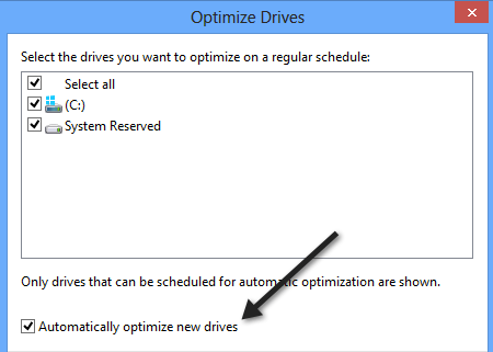 optimize new drives