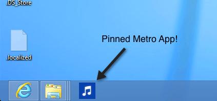 pinned app