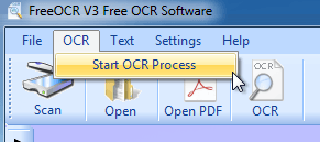 start ocr process