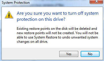 delete restore points