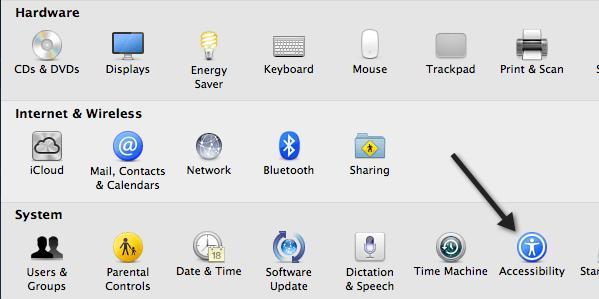 disable trackpad mac