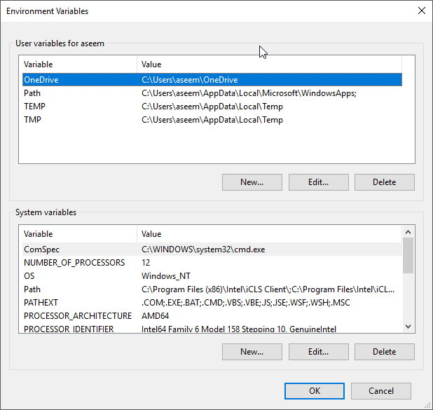 Create Custom Environment Variables in Windows