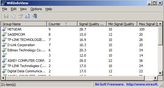 wifi network info