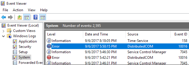 Fix Error 10016 in Windows Event Viewer