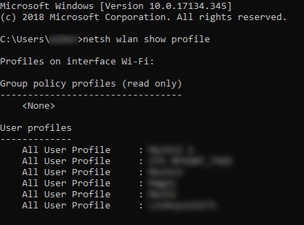 Find the WiFi Password in Windows 10 Using CMD
