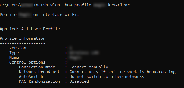 Find the WiFi Password in Windows 10 Using CMD