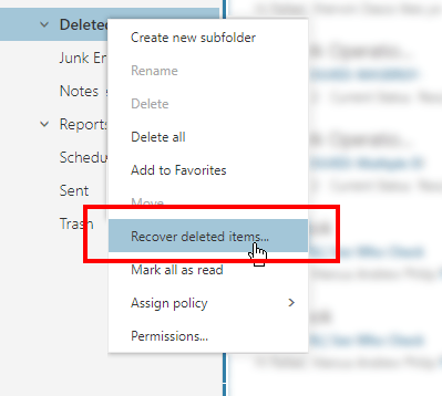 How to Recover Deleted Emails in Office 365