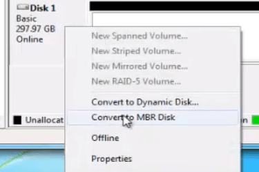 How to Convert a Disk from GPT to MBR