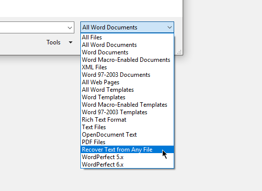 How to Open a Corrupted Word File and Recover Document