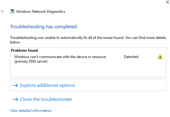 """Fix """"Windows can't communicate with the device or resource"""
