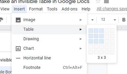 How To Remove Table Borders In Google Docs