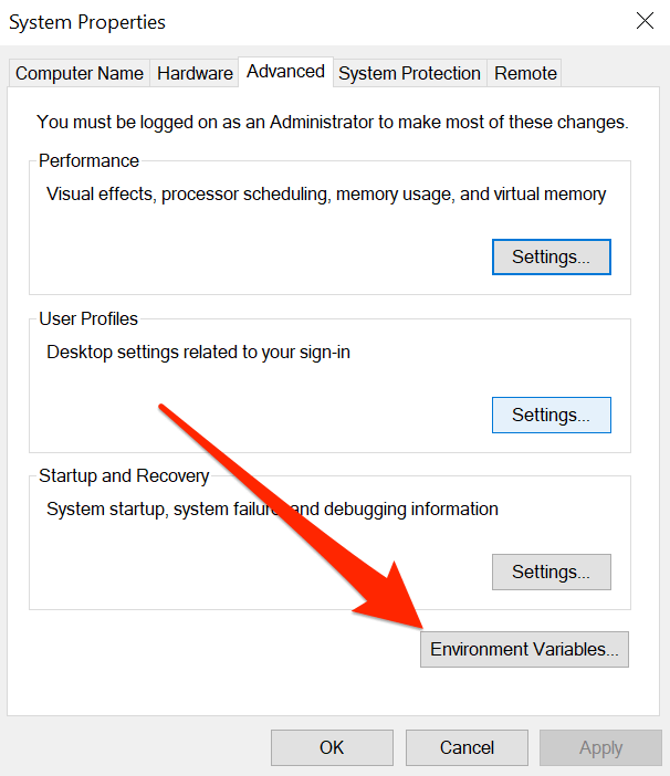"""How to Fix """"not recognized as an internal or external command"""" in Windows"""