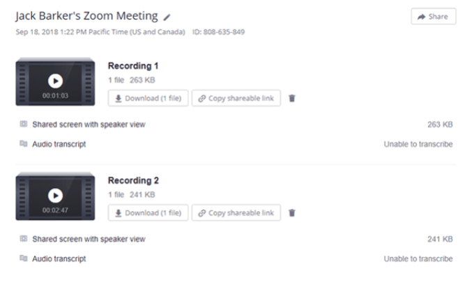 How To Manage Your Zoom Recordings History