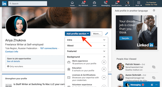 how to add or update your resume on linkedin