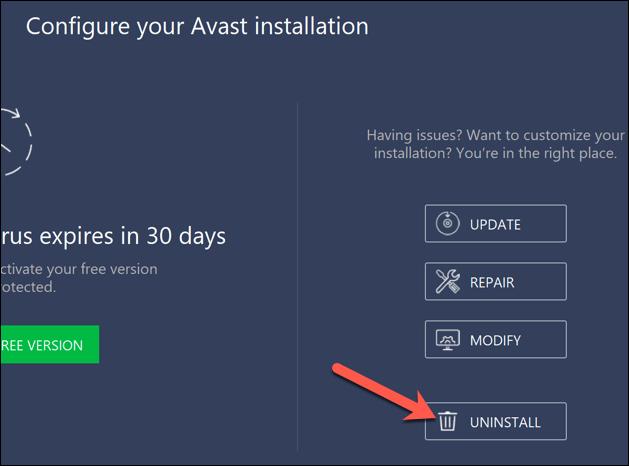 Avast needs to restart your computer