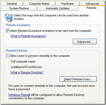 disable remote desktop