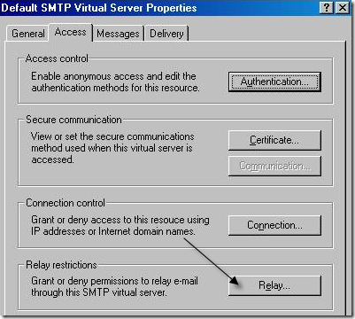 smtp virtual servers